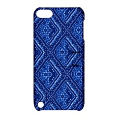 Blue Fractal Background Apple Ipod Touch 5 Hardshell Case With Stand by Simbadda