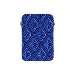 Blue Fractal Background Apple Ipad Mini Protective Soft Cases by Simbadda