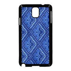 Blue Fractal Background Samsung Galaxy Note 3 Neo Hardshell Case (Black)