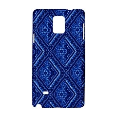 Blue Fractal Background Samsung Galaxy Note 4 Hardshell Case by Simbadda