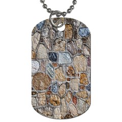 Multi Color Stones Wall Texture Dog Tag (two Sides) by Simbadda