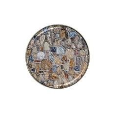Multi Color Stones Wall Texture Hat Clip Ball Marker by Simbadda