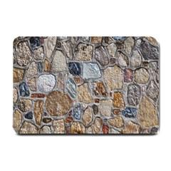 Multi Color Stones Wall Texture Small Doormat  by Simbadda
