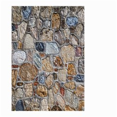 Multi Color Stones Wall Texture Small Garden Flag (two Sides) by Simbadda