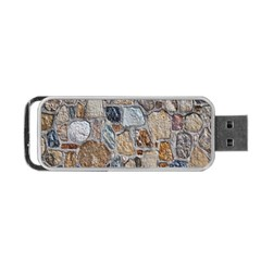 Multi Color Stones Wall Texture Portable Usb Flash (one Side) by Simbadda