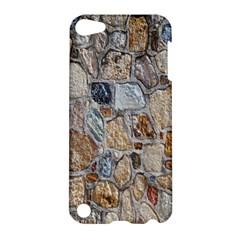 Multi Color Stones Wall Texture Apple Ipod Touch 5 Hardshell Case by Simbadda
