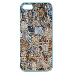 Multi Color Stones Wall Texture Apple Seamless iPhone 5 Case (Color) by Simbadda