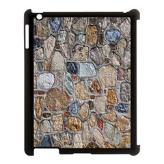 Multi Color Stones Wall Texture Apple Ipad 3/4 Case (black) by Simbadda
