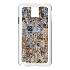 Multi Color Stones Wall Texture Samsung Galaxy Note 3 N9005 Case (white) by Simbadda