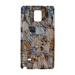 Multi Color Stones Wall Texture Samsung Galaxy Note 4 Hardshell Case by Simbadda
