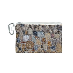 Multi Color Stones Wall Texture Canvas Cosmetic Bag (s) by Simbadda