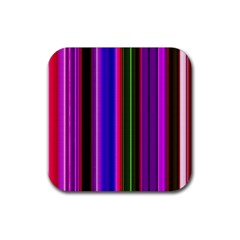 Fun Striped Background Design Pattern Rubber Square Coaster (4 Pack)  by Simbadda