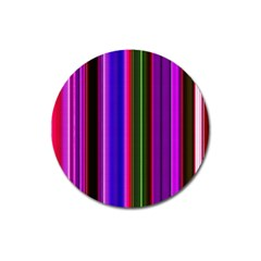 Fun Striped Background Design Pattern Magnet 3  (round) by Simbadda