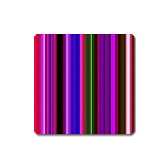 Fun Striped Background Design Pattern Square Magnet by Simbadda