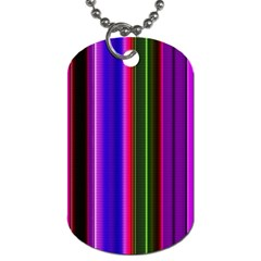 Fun Striped Background Design Pattern Dog Tag (two Sides) by Simbadda