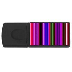 Fun Striped Background Design Pattern Usb Flash Drive Rectangular (4 Gb) by Simbadda