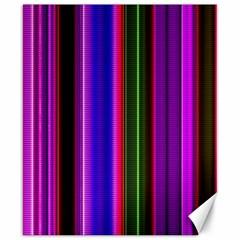 Fun Striped Background Design Pattern Canvas 8  X 10  by Simbadda