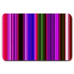 Fun Striped Background Design Pattern Large Doormat  by Simbadda
