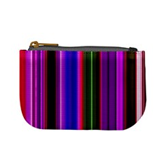 Fun Striped Background Design Pattern Mini Coin Purses by Simbadda