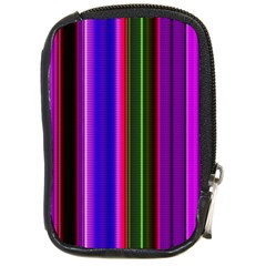 Fun Striped Background Design Pattern Compact Camera Cases by Simbadda