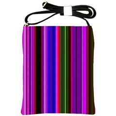 Fun Striped Background Design Pattern Shoulder Sling Bags by Simbadda