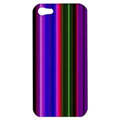 Fun Striped Background Design Pattern Apple Iphone 5 Hardshell Case by Simbadda