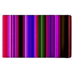 Fun Striped Background Design Pattern Apple Ipad 2 Flip Case by Simbadda