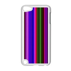 Fun Striped Background Design Pattern Apple Ipod Touch 5 Case (white) by Simbadda