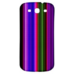 Fun Striped Background Design Pattern Samsung Galaxy S3 S Iii Classic Hardshell Back Case by Simbadda