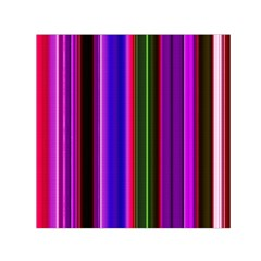Fun Striped Background Design Pattern Small Satin Scarf (square) by Simbadda