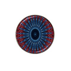 Digital Circle Ornament Computer Graphic Hat Clip Ball Marker (4 Pack) by Simbadda