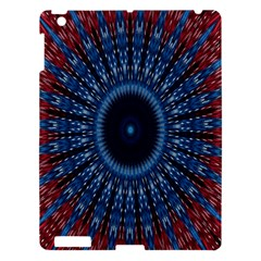 Digital Circle Ornament Computer Graphic Apple Ipad 3/4 Hardshell Case by Simbadda