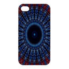 Digital Circle Ornament Computer Graphic Apple Iphone 4/4s Premium Hardshell Case by Simbadda