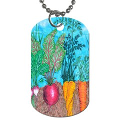 Mural Displaying Array Of Garden Vegetables Dog Tag (two Sides) by Simbadda