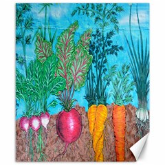 Mural Displaying Array Of Garden Vegetables Canvas 8  X 10  by Simbadda