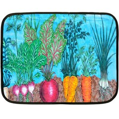 Mural Displaying Array Of Garden Vegetables Fleece Blanket (mini) by Simbadda