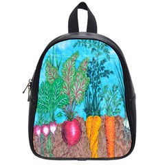 Mural Displaying Array Of Garden Vegetables School Bags (small)  by Simbadda