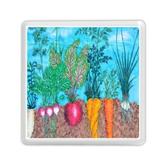 Mural Displaying Array Of Garden Vegetables Memory Card Reader (square)  by Simbadda