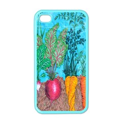 Mural Displaying Array Of Garden Vegetables Apple Iphone 4 Case (color) by Simbadda