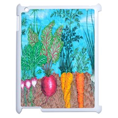 Mural Displaying Array Of Garden Vegetables Apple Ipad 2 Case (white) by Simbadda