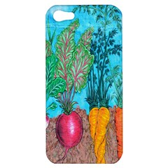 Mural Displaying Array Of Garden Vegetables Apple Iphone 5 Hardshell Case by Simbadda