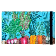 Mural Displaying Array Of Garden Vegetables Apple Ipad 3/4 Flip Case by Simbadda