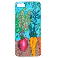 Mural Displaying Array Of Garden Vegetables Apple Iphone 5 Hardshell Case With Stand by Simbadda