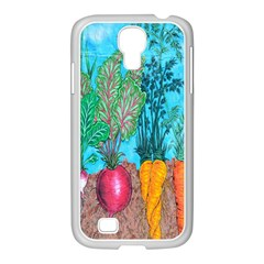 Mural Displaying Array Of Garden Vegetables Samsung Galaxy S4 I9500/ I9505 Case (white) by Simbadda