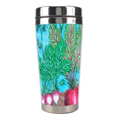 Mural Displaying Array Of Garden Vegetables Stainless Steel Travel Tumblers by Simbadda