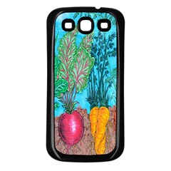 Mural Displaying Array Of Garden Vegetables Samsung Galaxy S3 Back Case (black) by Simbadda