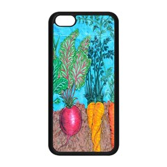 Mural Displaying Array Of Garden Vegetables Apple Iphone 5c Seamless Case (black) by Simbadda
