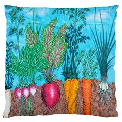 Mural Displaying Array Of Garden Vegetables Large Flano Cushion Case (two Sides) by Simbadda
