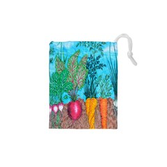 Mural Displaying Array Of Garden Vegetables Drawstring Pouches (xs)  by Simbadda