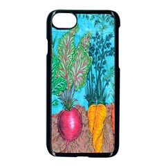 Mural Displaying Array Of Garden Vegetables Apple Iphone 7 Seamless Case (black)